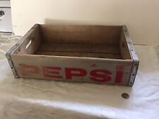 Old Pepsi Wooden Crate Pepsi Wooden Box With Handles Advertising Box Pepsi