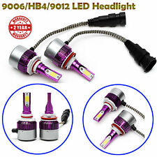 2x LED Headlight Bulbs 9006 HB4 9012 COB Beam 200W Replace Halogen Xenon Light