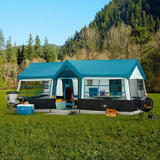 Family Camping Tent 12 Persons 3 Room Front Porch Cabin Shelter Outdoor Picnic