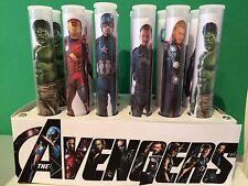 10 xmarvel Super Héros des Avengers Sweet Tube Fête Sac Remplissage Cadeau Halal Butin Mariage