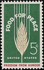 1963 5c Food for Peace, Freedom from Hunger Scott 1231 Mint F/VF NH