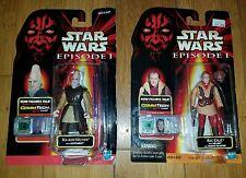 Lot of 2 Star Wars Episode 1 Action Figures Ric Olie & Ki-Adi-Mundi Free Ship