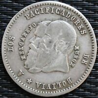 BOLIVIE 1/2 MELGAREJO 1865 ARGENT