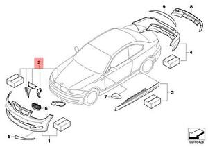 Genuine BMW E82 E88 135i Performance Air Cooling Brake KIT OEM 51740442875