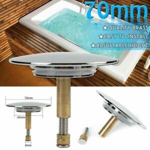 70mm Badewannenstöpsel Abflussstöpsel Stopfen Ventil Badewannen Pop Up Abfluss