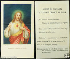 OLD BLESSED SACRED HEART OF JESUS HOLY CARD NOVENA ANDACHTSBILD SANTINI    CC787