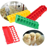 Flip-Top Poultry Feeder Farm Feeding Tool Pigeons Trough Water Dishes Dispenser
