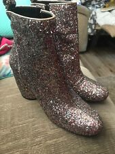 Tara Jarmon Glitter Ankle Boots Size 39. New Without Box