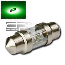 3MM/2 ROUND LED 31MM 3175 12V BRIGHT GREEN LED INTERIOR DOME/TRUNK LIGHT/BULB