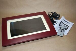 "Sylvania Digital Photo Frame 10"" Wood Finish 2GB Multi-Media Pictures"
