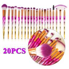 Pink Unicorn Make up Brushes Sets Eyeshadow Eyebrow Powder Angled Fan Brush Lip
