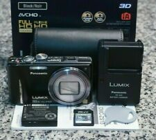 Panasonic Lumix DMC-ZS10 14.1MP 1080p 3D Camera Leica 16x IN BOX W/ Extras FR/SH