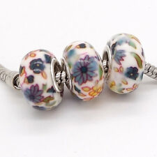 2017 5pcs silver MURANO European charm beads Fit Necklace bracelet jewelry V162
