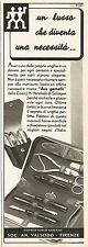 Y0116 Unghie perfette con prodotti Due Gemelli - Pubblicità 1938 - Advertising