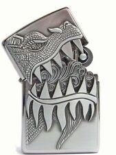 Geniales TRICK ZIPPO Firebreathing Dragon Drache Platte Chrom NEU TOP