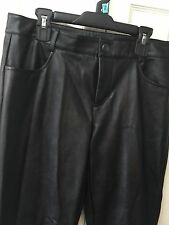 Decree Faux Leather Pants Junior Size 7 Girls Black Straight Leg Waist 31