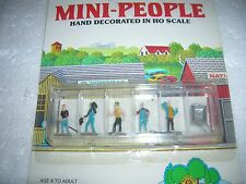 BACHMANN WORK CREW HO SCALE MINI PEOPLE PLASTICVILLE 42334 NIP