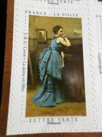 FRANCE 2020, timbre AUTOADHESIF ART TABLEAU COROT DAME en BLEU, neuf**, MNH