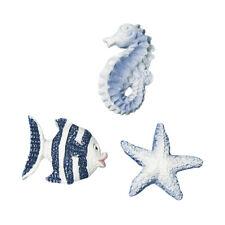 Maritime Miniatur Seetiere Polyresin Dekoartikel Streudeko 2 cm blau Wei�Ÿ Fische