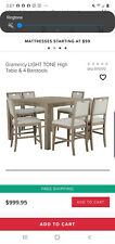 Modern dining table and 6 chairs - beije/gray light tone - rectangular.