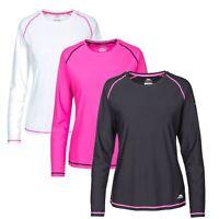 Trespass Hasting Women Long Sleeve Top Active Reflective Jumper Running Workout