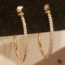 Affinity Diamond 14k Yellow Gold 1/4 Cttw Oval Hoop Earrings