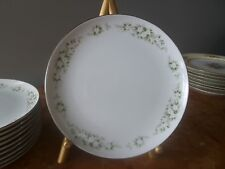 "Royal Wentworth SPRINGDALE ""8""Luncheon/Salad plate w/silver rim and white flower"