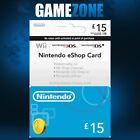 Nintendo e-Shop £15 Card Code - £15 GBP UK eShop Switch   3DS   DS   Wii   Wii U