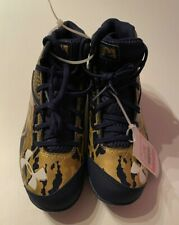 UA Under Armour Deception Byrce Harper Baseball Cleats Size 2 Youth Blue Gold