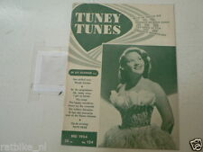1954-124 TUNEY TUNES MUSIC PATTI PAGE,MINDY CARSON,THE MODERNAIRES,PIED PIPERS