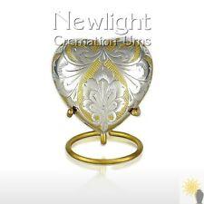 Gold And Silver Tear (3inch Heart), Keepsake Urns, Heart Keepsakes, Mini Urns