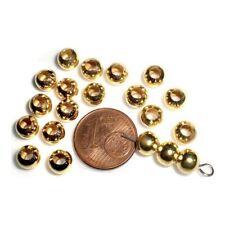 20 Intercalaires spacer _ RONDE LISSE 5x6mm _ Perles apprêts créat bijoux _ A107