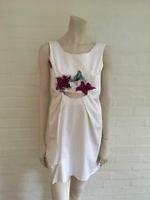 $865 Mini Weiß Cut Out Lace Insert Vanessa Bruno Kleid SZ F 34 US 2 UK 4 XXS