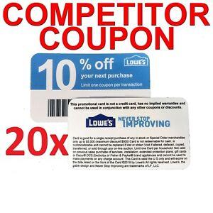 (20𝓧) Home Depot 10% ᴏff Competitor Oɴʟʏ Coupon Cards EXP JANUARY 2021
