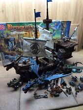 MEGABLOKS   Dragon Man O War Ship about 2' 9895 with bonus dragon set mega bloks