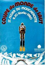 Original vintage poster SKI JUMP WC ST.NIZIER FRANCE 1980