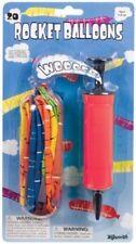 (20) Rocket Balloons Giant w/ Air Pump Reusable Fun Play Outdoors by Toysmith