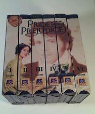 Pride and Prejudice (Mini-Series) (VHS, 1996, 6-Tape Set)  EUC VHS Box Set BBC