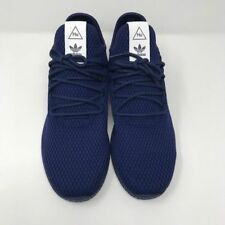 fe7f8bb35 adidas Pharrell Tennis HU Mens BY8719 Dark Blue Mesh Athletic Shoes Size 10