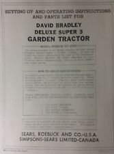 Sears David Bradley Tractor Amp Disc Amp Engine Service Owner Amp Parts 3 Manual S
