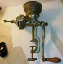 Vintage MOLINO CORONO Hand Crank Grain Grinder: Landers, Mora & CIA LTDA