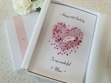 Birthday Card Handmade Personalised Daughter Mother 21st 30 40 50 60 18 70 80 90