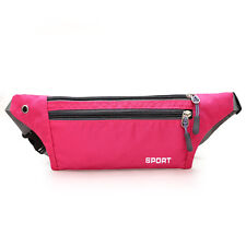 Men's Women Sport Waist Fanny Pack Crossbody Wallet Belt Travel Phone Bags Pink