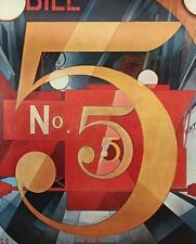 1959 Mid Century Charles Demuth American Modernism The Figure Five In Gold #S733