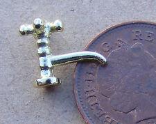 1:12 casa de muñecas en miniatura accesorios Fontanería grifo grifo de metal de cobre amarillo oro