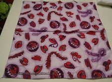 015 Red Hat Society Scarf Cotton Polyester  Rectangular Red Purple Hats