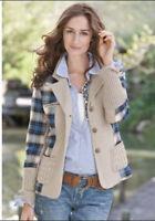 Sundance Women's Mixed Media Jacket Blue  Size 14                  2516