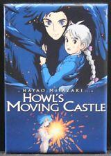 """Howl's Moving Castle Movie Poster 2"""" X 3"""" Fridge Magnet."""