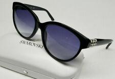 13a54bea0c8e Authentic SWAROVSKI Womens Elsa Sunglasses Hard Case Black Crystal  57-17-135 NEW