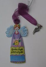 aa Guardian Angel protect and Guide wing car charm ALWAYS AN ANGEL Ornament